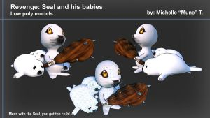 Defender Seal and his babies by PolyMune