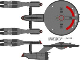 Battlestar Enterprise by SciFiRocker