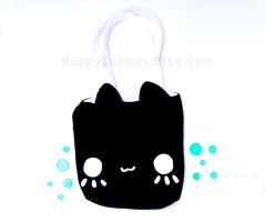 Black Cat Tote by CosmiCosmos