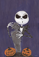 Jack Skellington Acrylic by Youmi-dt