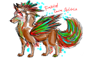 FireBird Canine Griffin points adoptable by AgentWhiteHawk