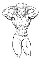 Noi double biceps pose by Pokkuti