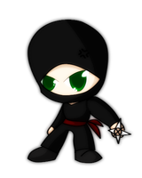 Angry little ninja by RadioactivePopTart