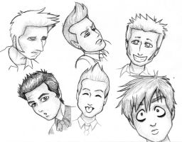 Green Day Toon Expressions by kelly42fox