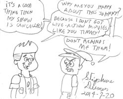 Johnny Test and Timmy Turner by stephdumas