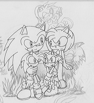 Sonamy and their kids by PetitMoon5