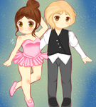 Commission- Aiden and Ellenora by creampuffchan