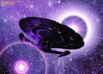 Close-up with a purple nebula by King-O-the-Goats