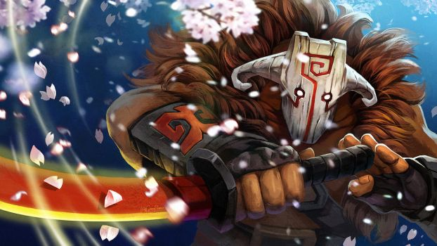 dota2 jugg sakura by biggreenpepper
