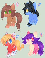 .:MLP : Adoptables 1:. [ALL SOLD] by InkHeartPaw