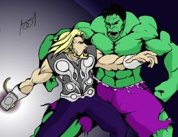 Thor vs Hulk by Prongsky
