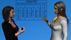 Wraith Crossover Calender page - August 2014 by Hellraiser-89
