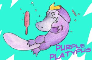 Purple Platypus (Platypi?) by TheSleeperAwakes
