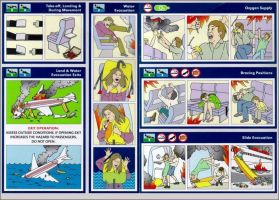 Inflight Safety Card by youhavetoFIGHT