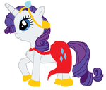 Rarity (Drawn By Me, Used MS Paint) by Annafifteena-Tfm