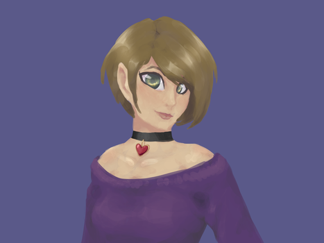 Actual person painting by MysteryCypher