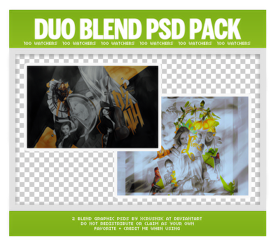 Duo Blends PSD Pack (100 Watchers) by xcrusnik