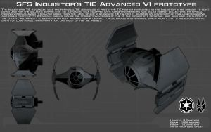 Inquisitors TIE Advanced prototype ortho [1][New] by unusualsuspex