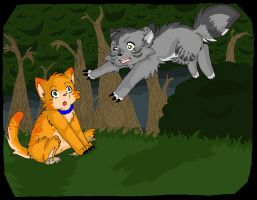 Rusty and Graypaw by Homohelvetti