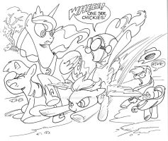 My Little Pony Fly By by andypriceart