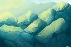 Mountains Speedpaint by shaina773