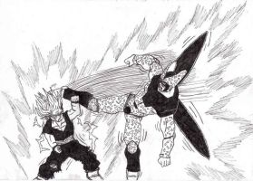 Gohan and Cell by Mornie1