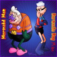 Mermaidman and Barnacle Boy by EJW