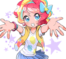 rainbow power pinkie by quizia