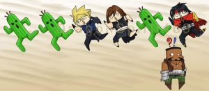 FFVII: Fun with Cactuars by DragonSpirit469