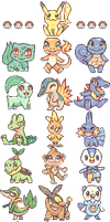 Pokemon Starter Pack [F2U]