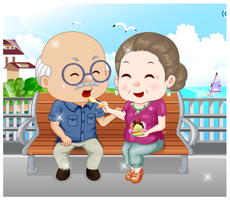 Grandparents Ice Cream Date by willbeyou
