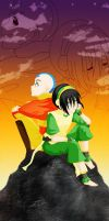 Aang and Toph by Sakura-Rose12