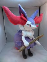 Shiny Braixen Plush by makeshiftwings30