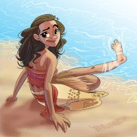 Moana! by BTURNERart