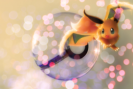 Dragon Type Eevee Pokeball by wazzy88