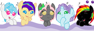 {CLOSED}MLP Pony Pointables by WulfluvrBlackdrgn