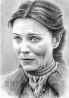 Michelle Fairley miniature by whu-wei