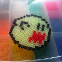 Perler boo by NevermindNicholas