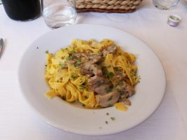 Tagliatelle with Mushrooms by giulal