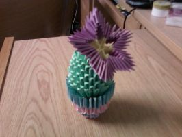 3D Origami Cactus Remade by SeemsGood