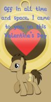 Dr Whooves Valentine Card by Kurenai-Hio