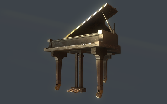 Piano Low Poly 2 by dudealan2001
