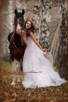 Bridal Painting with Horse by fotophi