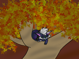 Druid in a tree by Usagi-Zakura