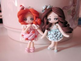 Lady Choco-mint and Miss Strawberry Cream by Anteam