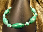 malachite bracelet by BacktoEarthCreations
