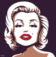 Marilyn Monroe by tskrening