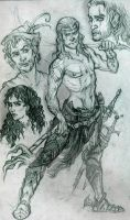 Witcher sketches by SceithAilm