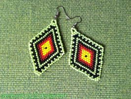 beaded earings by szczurek2725