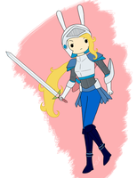Fionna the Blue Knight by Ciaxlia